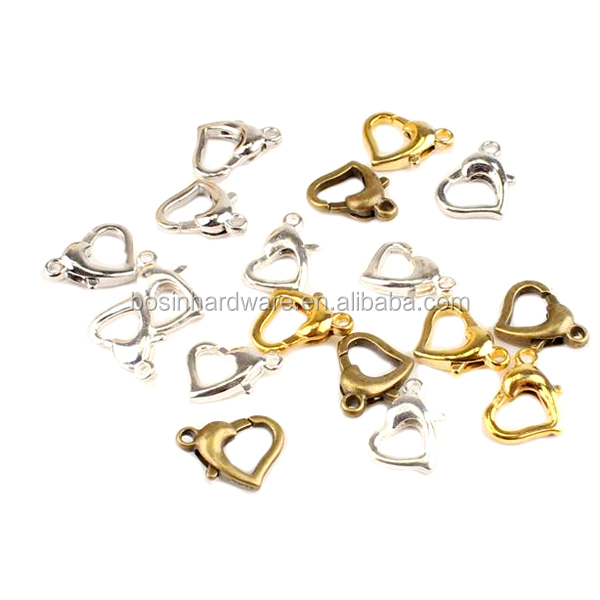 Fashion High Quality Metal Heart Shaped Lobster Clasp
