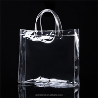 wholesale PVC clear plastic soft loop shopping handle bag from qingdao factory