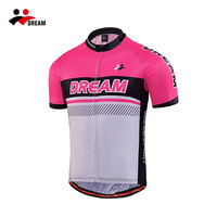 Dream Sport hot pink women cycling jersey with short sleeve