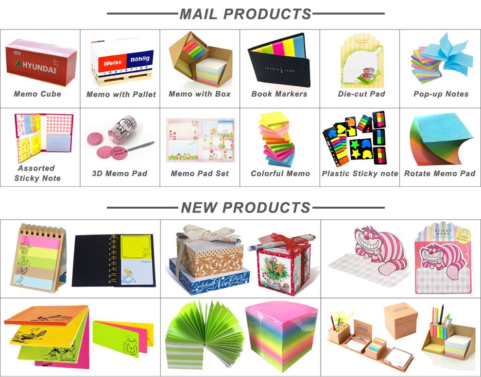 Custom eco-friendly high quality notepad sticky notes