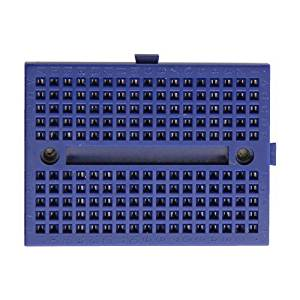 Puuli 2 Pcs/lot ZY-170 Blue Mini ABS Plastic Solderless Prototype Plug-in Breadboard Bread Board 170 Points for Arduino Shield, 45.5x34.5x9.5mm