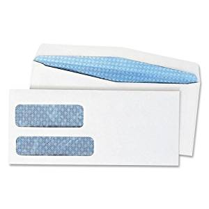 "Quality Park Products Double Window Envelope,No. 10, 4-1/8""X9-1/2"",500/Bx,White - Quality Park Products Double Window Envelope,No. 10, 4-1/8""X9-1/2"",500/Bx,Whiteno. 10 Envelopes Feature Two Poly Wind"