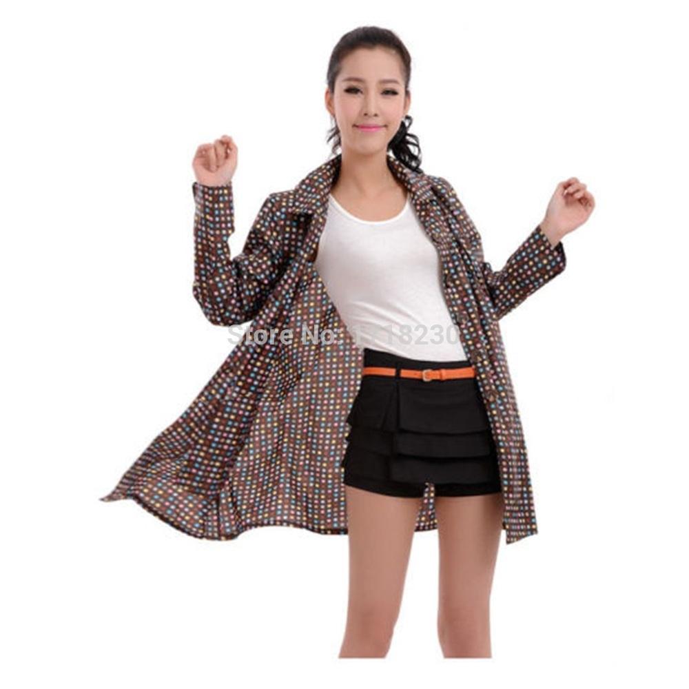 Оптово-fashing женские дождь пальто Ourdoor спорта долго ветровка дождевики плащ womendotraincoat4