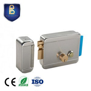 China 1073 brass latch double cylinder electric rim door lock for building phone
