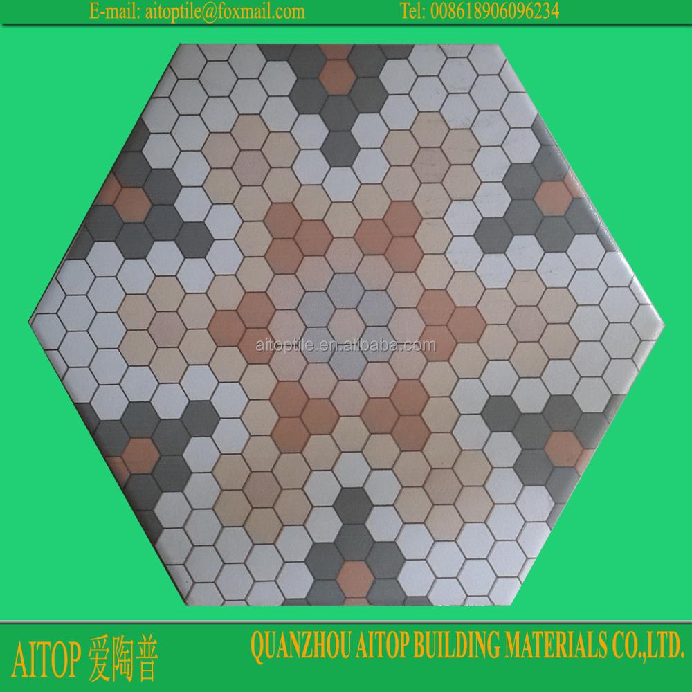 Balcony Hexagonal Terracotta Floor Tile Manufacture Buy Hexagonal