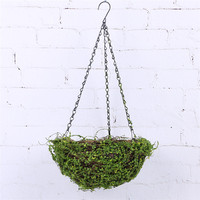 hot sale beautiful plants grass hanging basket for home indoor decoration