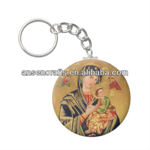 russian religious icon keychain,virgin mary and baby jesus keychain