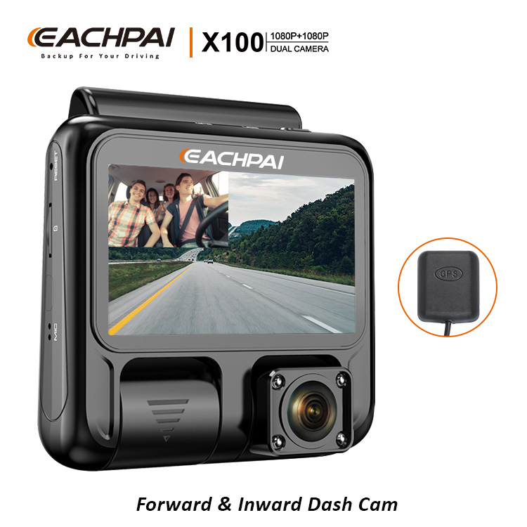 Dash Cam Eachpai X100 Front And Rear Dual 1080p Super Night Vision With Gps  Capacitor Dash Camera For Uber Lyft Taxi - Buy Dash Cam,1080p Dash