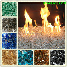 Fire glass for fire pit and fire place