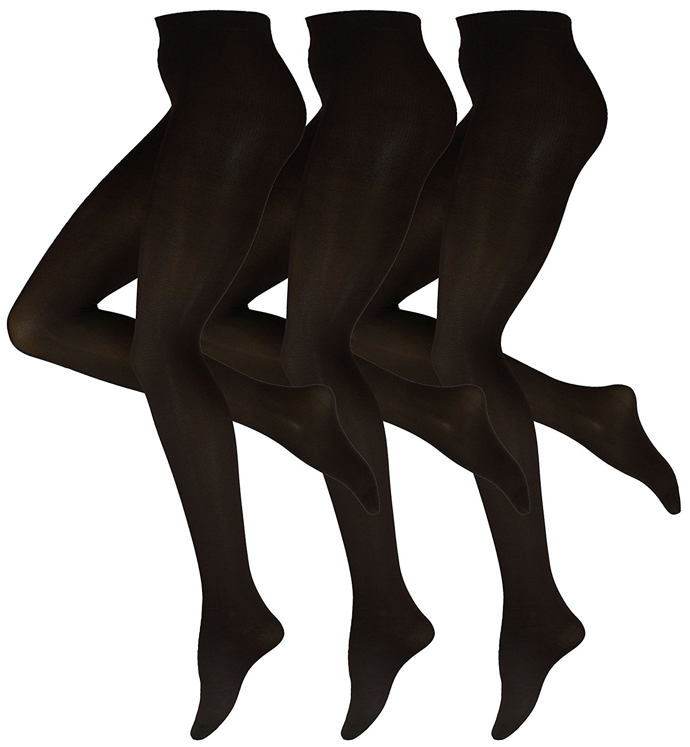 7b711581674ca Get Quotations · Women's Tights 70 Denier Opaque Solid Color Footed  Pantyhose Tights ( Pack of 3 )