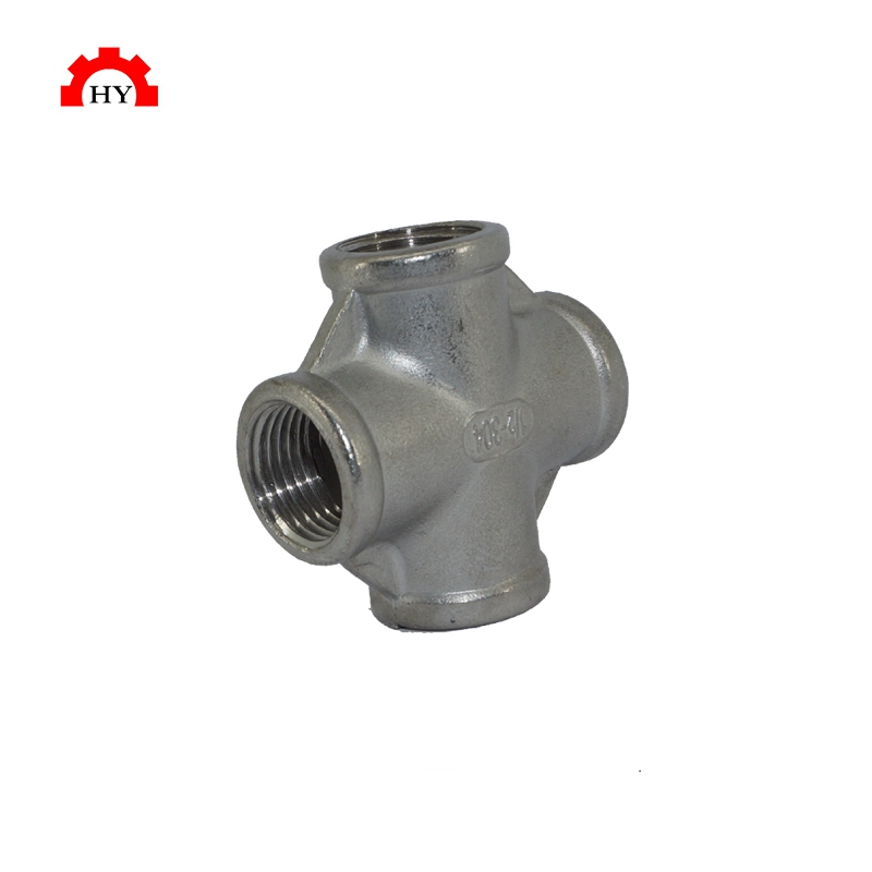 Casting stainless steel 90 degree elbow screw pipe fitting