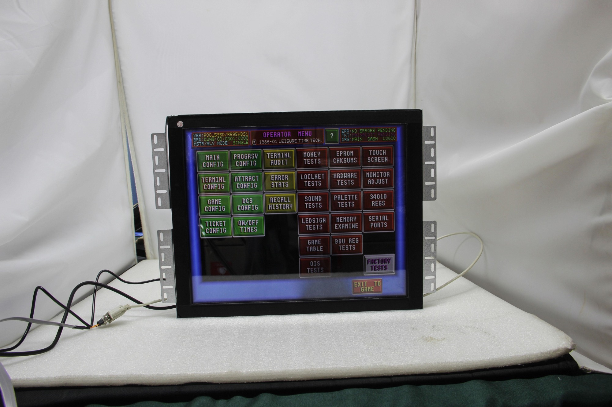 POT O Gold Game Board POG Touch Screen Monitor 19 Inch with CGA/VGA