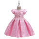 EGM114 Satin baby girl party dress children frocks designs for party