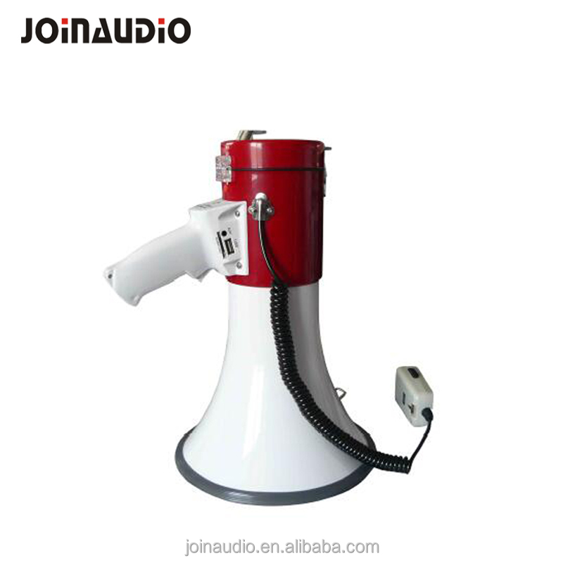 USB/SD/BLuetooth Mp3 Powerful Megaphone Red/White color with shoulder belt