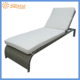 Sunstar 2m Outdoor Adjustable Grey Rattan Sun Lounger with soft cuhion 7113