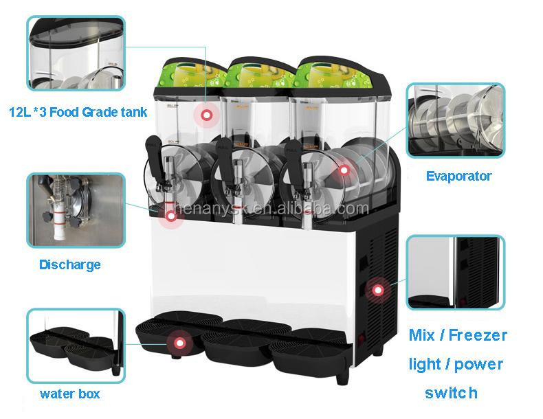 XC336A 12L*3 36L commercial snow slush making machine