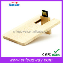 Eco Friendly Credit Card Wood USB, Wood Business Card USB for Promotional USB Wood