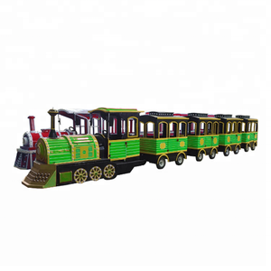 cheap amusement rides outdoor kids fun park electric trackless tourist train games for sale