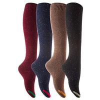 Chinese socks factory bulk wholesale 100% cotton knee high girls boot socks with various color