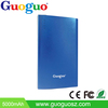 Guoguo Mobile Battery Charger Pack Polymer Ultra Thin Portable 2500mAh Metal Power Bank