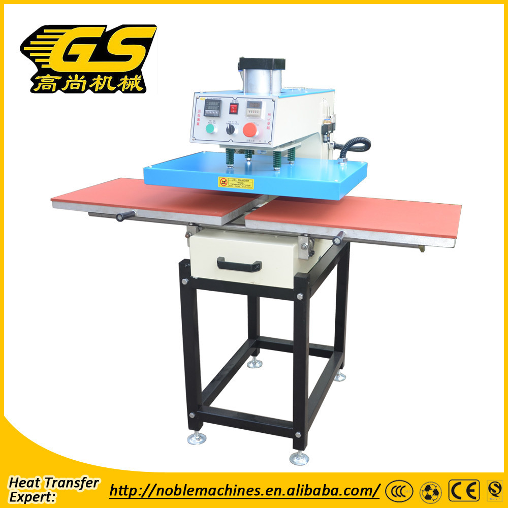 Heat press transfer machine Pneumatic double heat press machine skateboard press machine