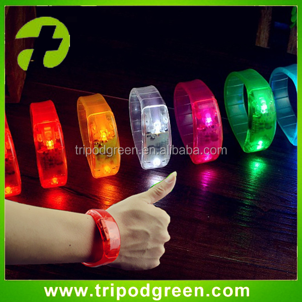 Event & party supplies sonido activo LED pulsera al por mayor