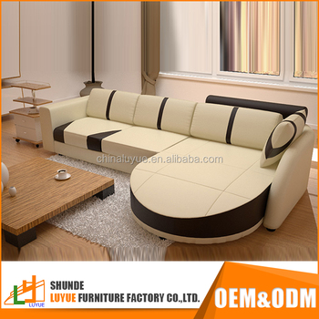 Latest Products Fashion Designs Genuine Leather Sofa Set Pictures New Model L Shaped Modern