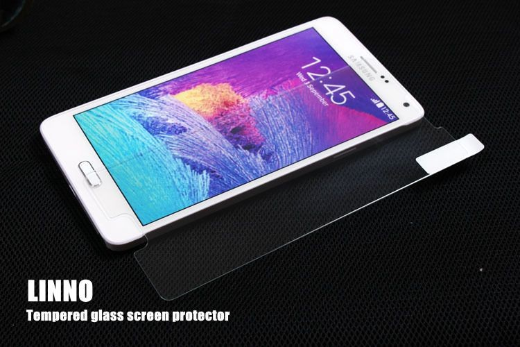 China manufacture For note4 9H 2.5D round edge best quality tempered glass screen protector samsung Galaxy Note 4