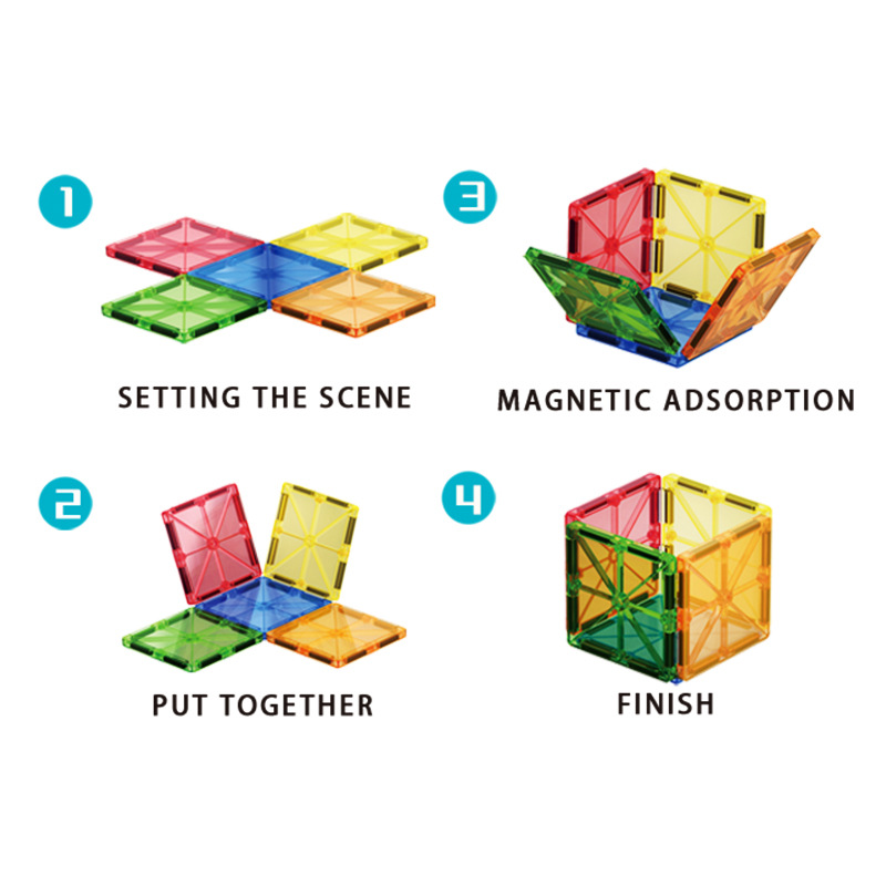 82 Pcs Magical Magnet Building Block Educational Toy For Kids Colorful Gift Set