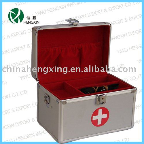 silver aluminium medical kit,daily health care case