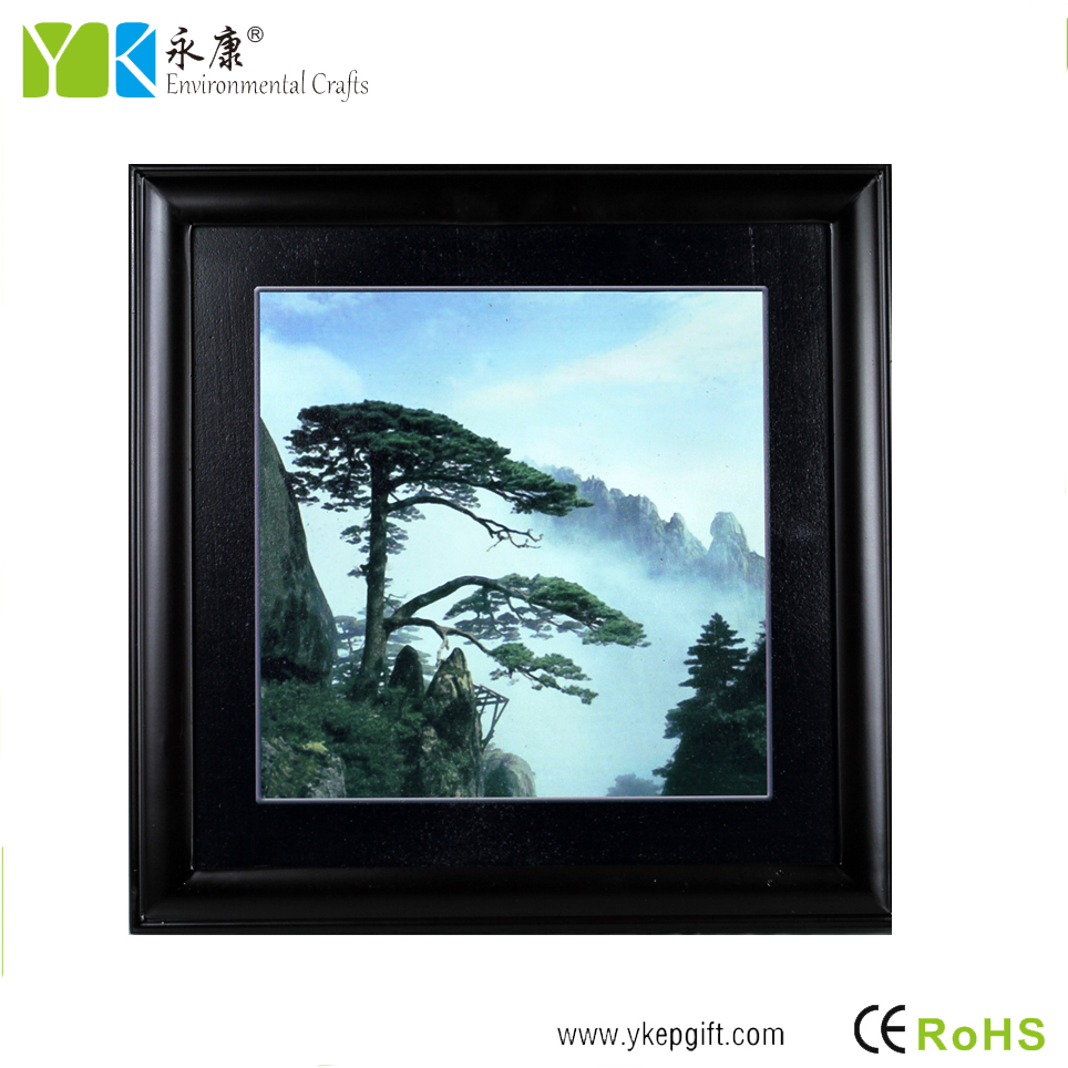 New arrival wooden frame pine tree wall hanging modern decorative art art painting examples