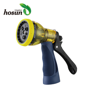 Widely used 7-Function adjustable garden plastic water spray nozzle