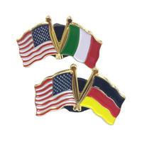 Wholesale Pakistsaudi Sri lanka Australia Texas Country Philippines Canadian Uae Indian American Flag Lapel Pin Badge
