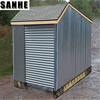 2018 hot selling flat pack steel garden shed
