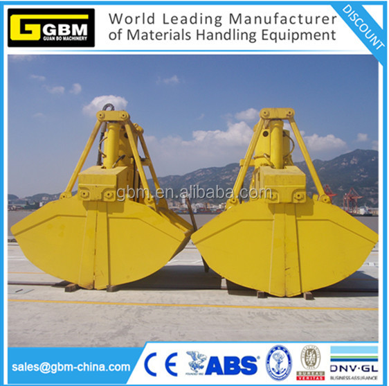 Electro-Hydraulic Clamshell Grab bucket for handing bu nclamshell grab bucket for bulk