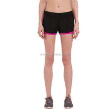Custom plain compression running pants black sports shorts for women
