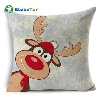 New Created Classical Christmas Deer Pillow Case Home Decor 45cm*45cm Square Case Sofa Waist Throw Christmas Cushion Cover