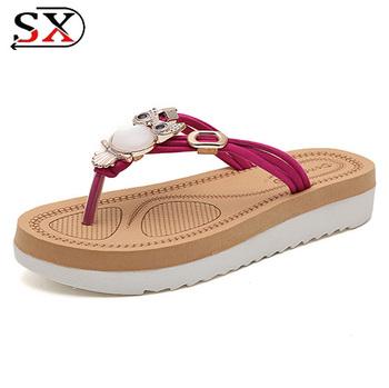 b845ae5e0 Factory Price Fashion Wholesale Beauty Upper Rhinestone Women Sandals  Slippers Flip Flops