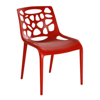 Modern Por Purple No Arms Plastic Dining Chairs With Padded Seats Red For Chair