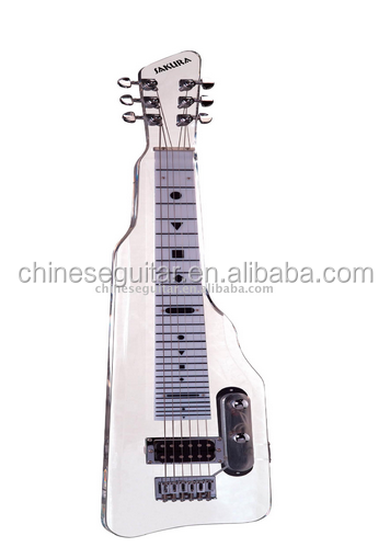 Lap steel guitar, Travel Guitar transparent body and OEM shape electric guitar