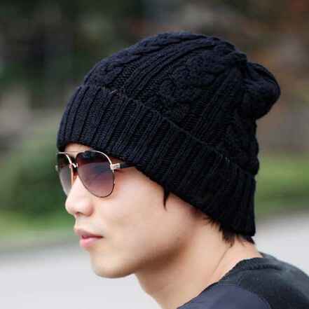 90001222b032 2016 Male And Female Stylish Winter Caps Knitted Wool Cap Beanies Hat  Casual Cap Cotton Casual Bonnet Men Free shipping BB0021-in Skullies &  Beanies from ...