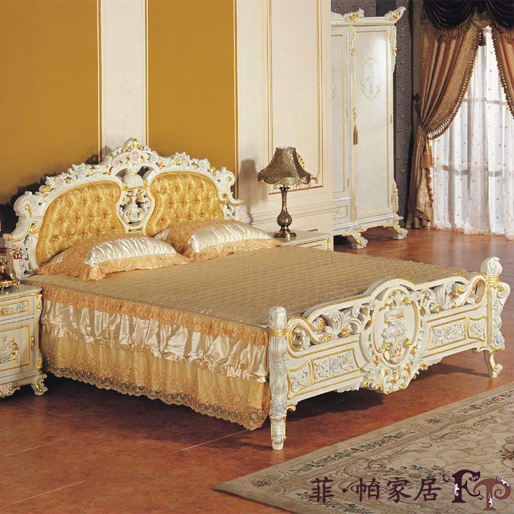 Royal muebles de estilo antiguo-cama mueble clásico francés-Camas ...