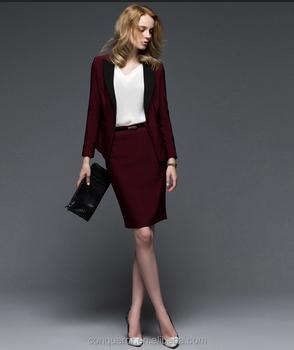 a3990d107 Hecho A Medida De Moda Diseño Mujeres Traje De Falda De Oficina Dama Traje  Formal Traje - Buy Señoras Falda Traje,Traje De Falda De Moda,Elegante ...