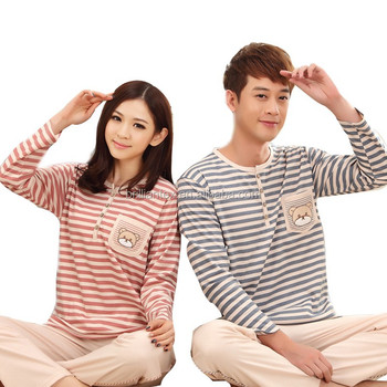 printed stripe couple pajamas funny pajamas animal pajamas