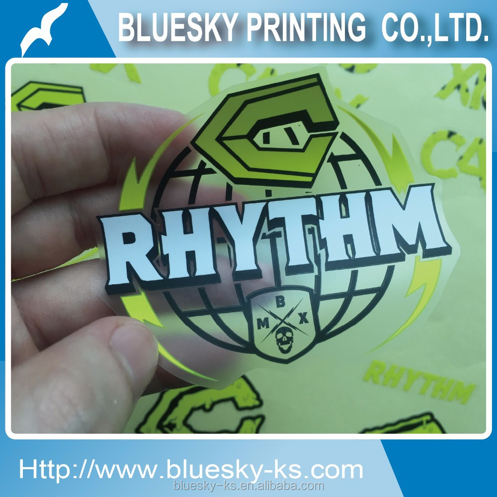 Vinyl label logo sticker printing bicycle frame decal wheel rim sticker