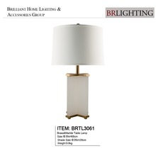 Guzhen zhongshan Home goods brass white marble table lamp for villa hotel decoration