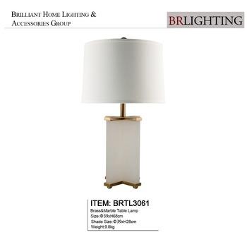 Guzhen Zhongshan Home Goods Brass White Marble Table Lamp For Villa