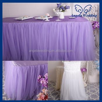 Sk005l New Arrival Puffy Banquet Bridal 6ft Rectangle Tutu