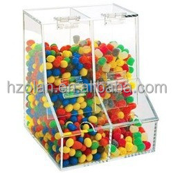 Two Compartment Ingredient Acrylic Candy Bin Acrylic Candy Box