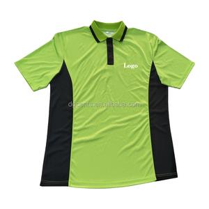 Xxxxl unisex yellow and black yarn dyed stripe work polo shirt